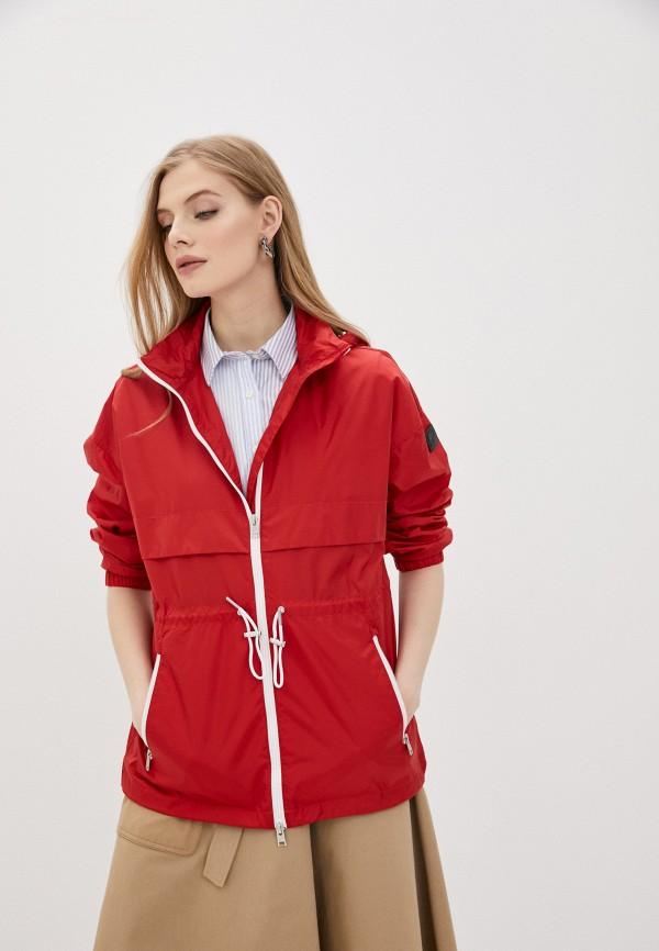 женская куртка woolrich, красная