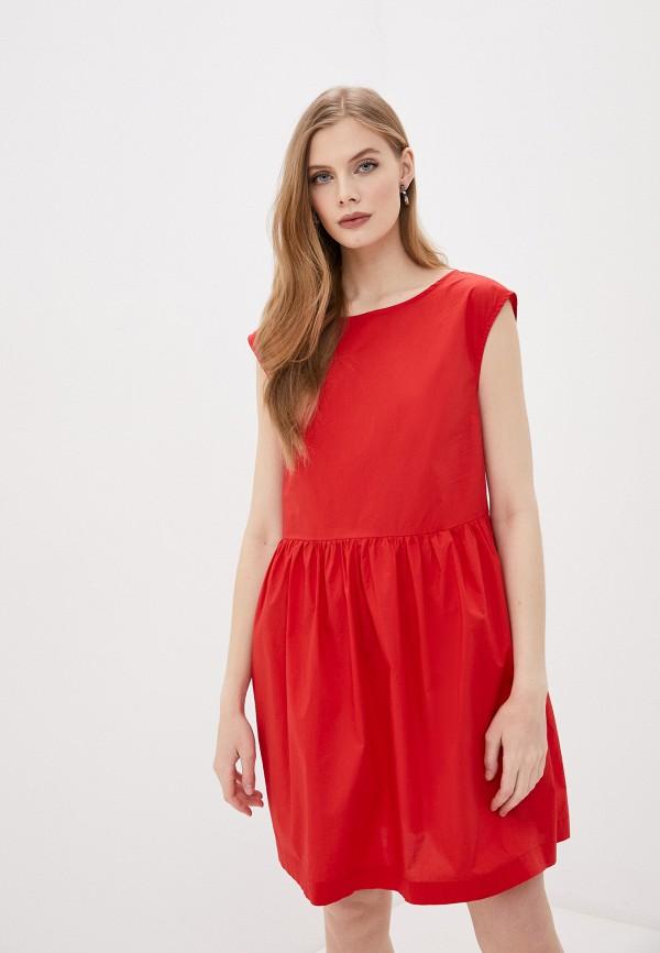 женское повседневные платье woolrich, красное