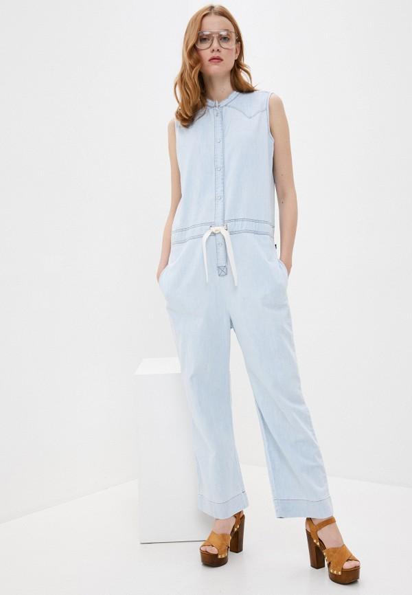 женский джинсовые комбинезон woolrich, голубой