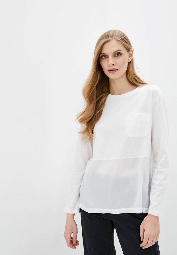 женский лонгслив woolrich, белый
