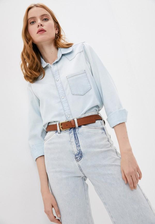 женская джинсовые рубашка woolrich, голубая