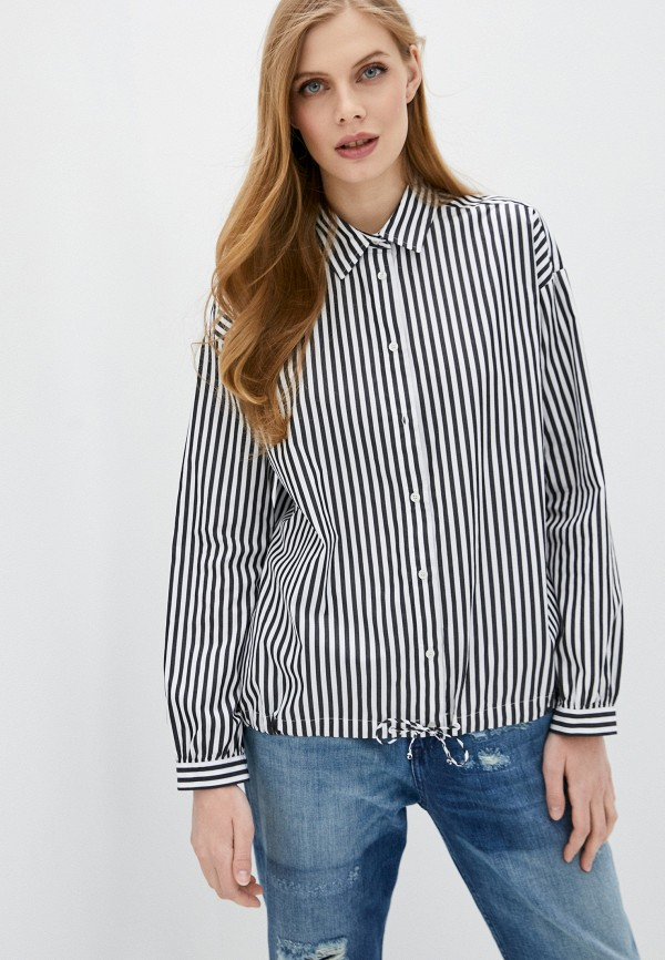 женская рубашка с длинным рукавом woolrich, синяя