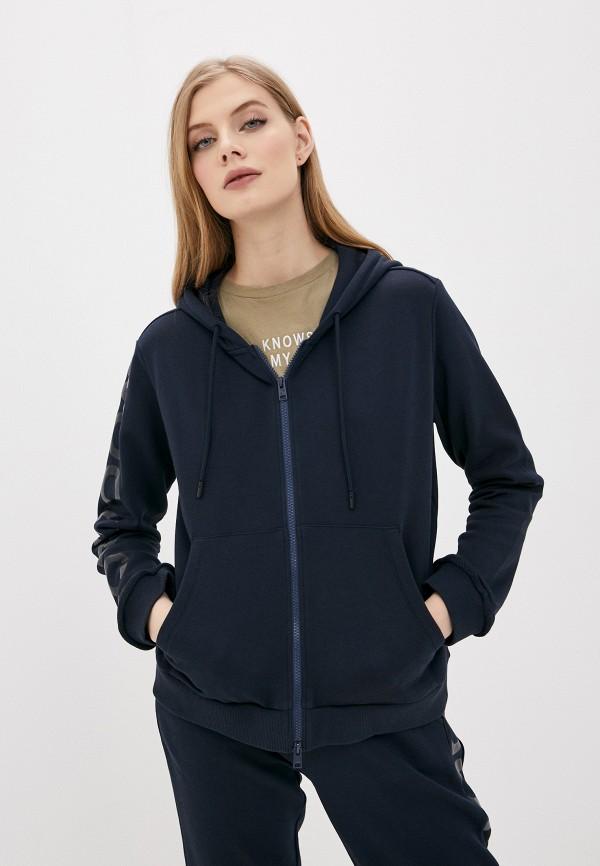 женская толстовка woolrich, синяя