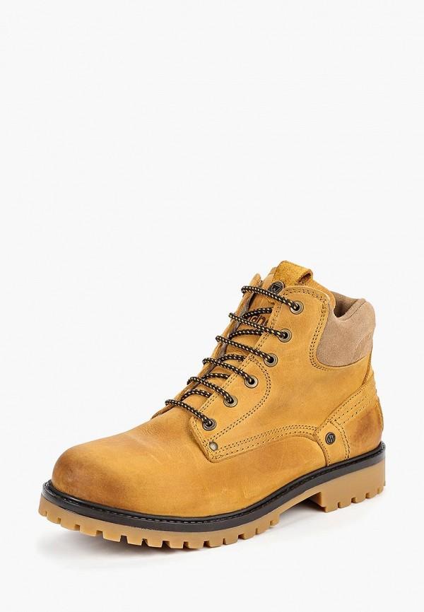 Купить Ботинки Wrangler, Yuma Fur S, wr224amcnws1, желтый, Осень-зима 2018/2019