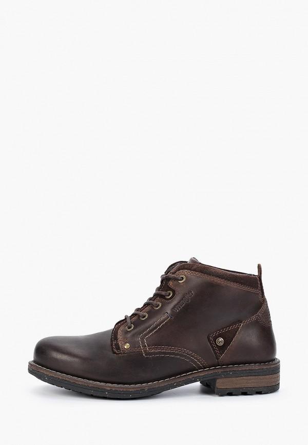 Фото - мужские ботинки и полуботинки Wrangler коричневого цвета