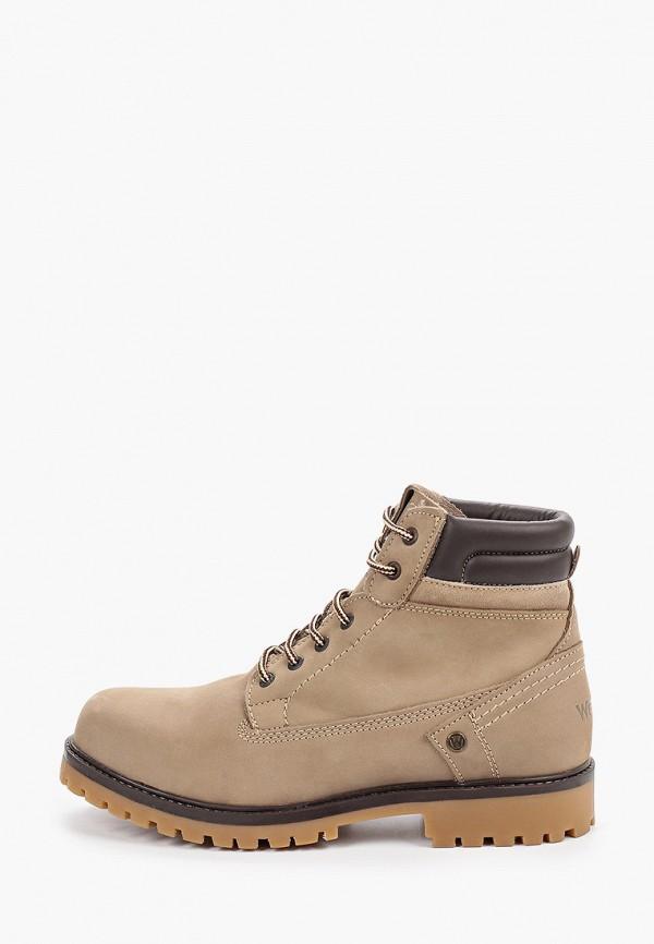 мужские ботинки wrangler, бежевые
