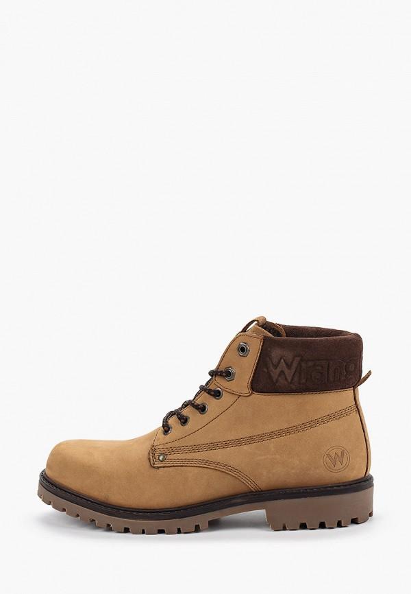 мужские кроссовки wrangler, коричневые