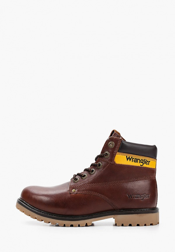 мужские высокие ботинки wrangler, коричневые