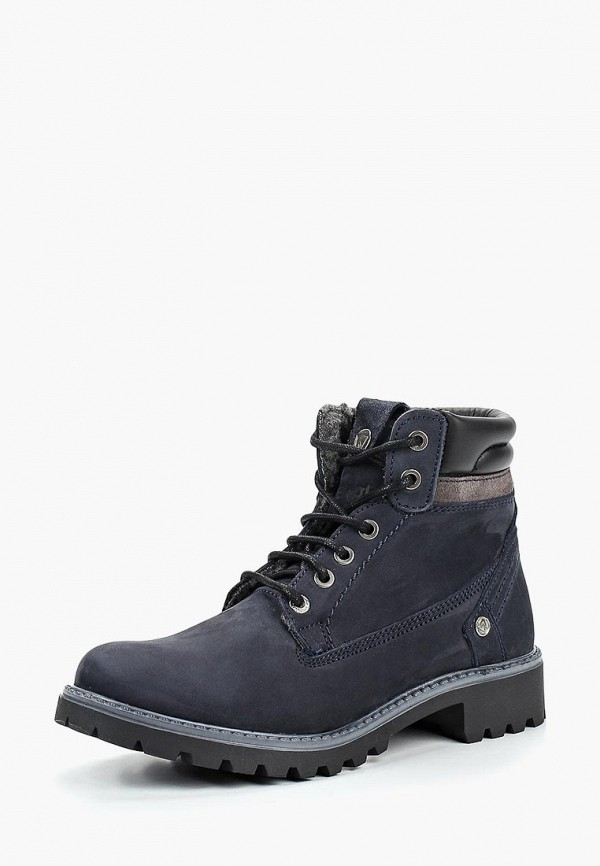Купить Ботинки Wrangler, WR224AWCOWN2, синий, Осень-зима 2018/2019