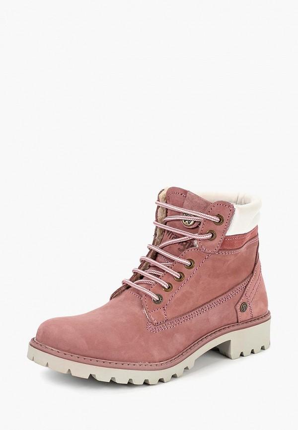 Купить Ботинки Wrangler, WR224AWCOWN9, розовый, Осень-зима 2018/2019