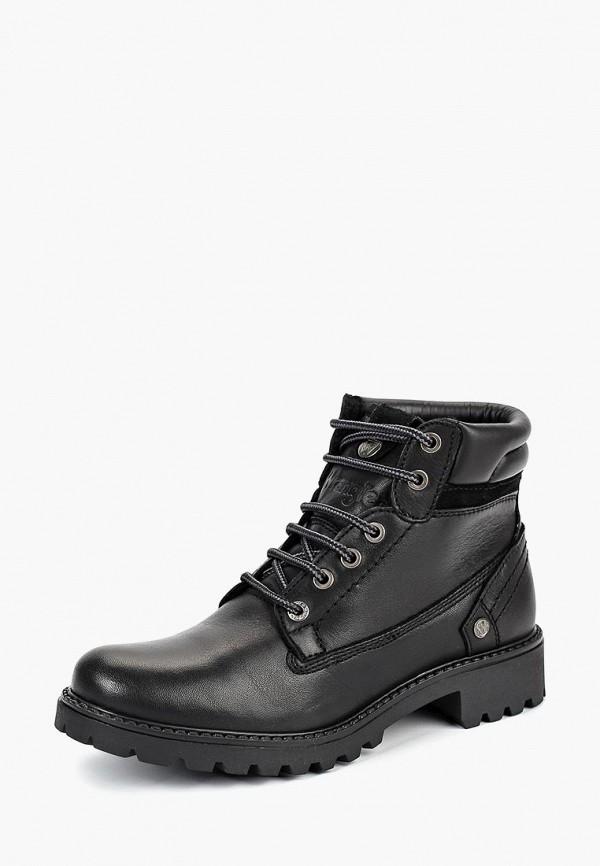 Купить Ботинки Wrangler, WR224AWCOWO1, черный, Осень-зима 2018/2019