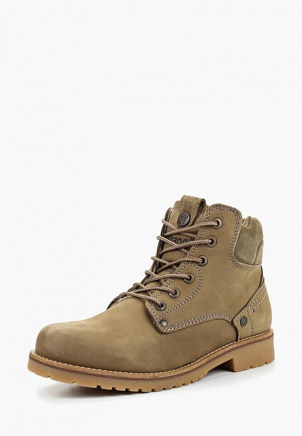 Купить Ботинки Wrangler, WR224AWCPMG5, хаки, Осень-зима 2018/2019