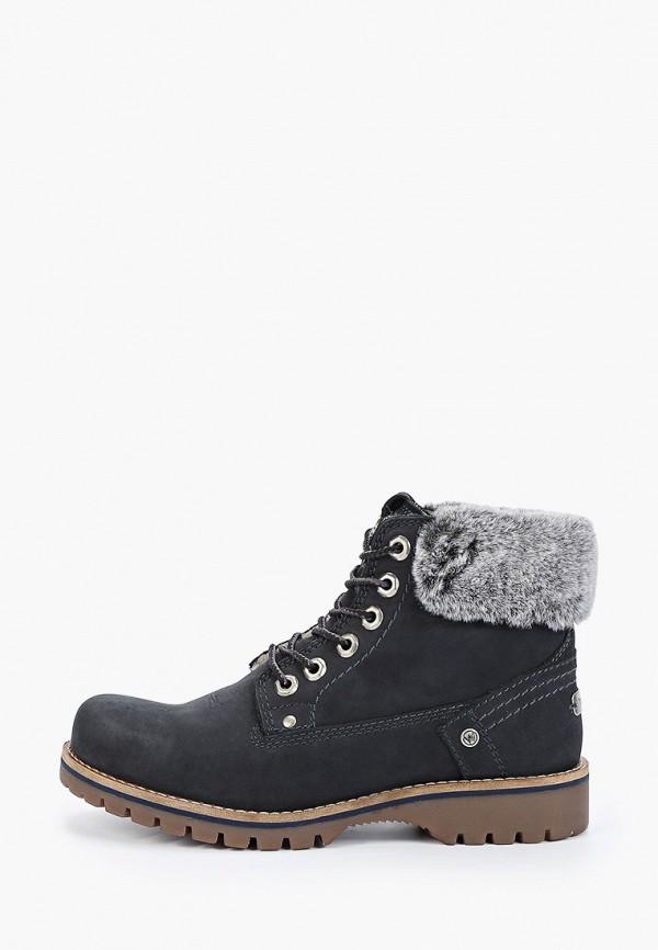 женские ботинки wrangler, синие