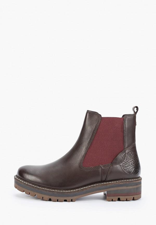 женские ботинки wrangler, коричневые