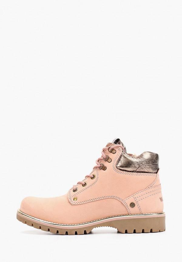 женские ботинки wrangler, розовые