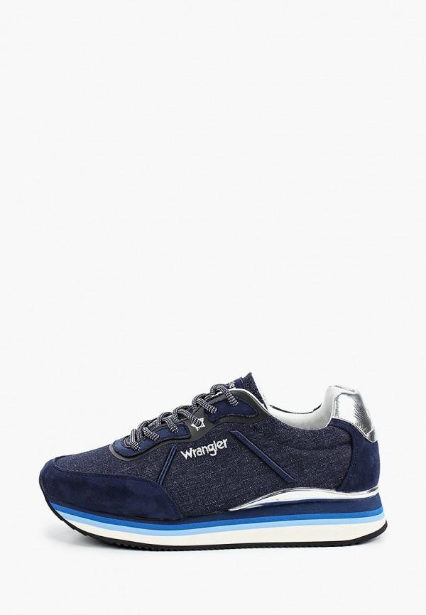 женские низкие кроссовки wrangler, синие