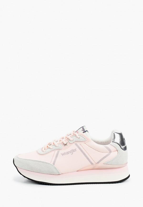 женские низкие кроссовки wrangler, розовые