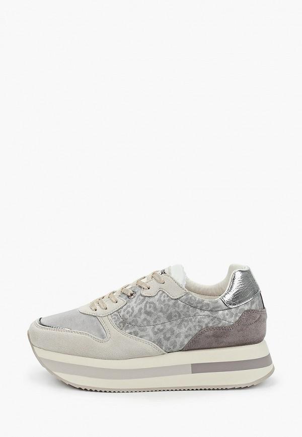 женские низкие кроссовки wrangler, серебряные