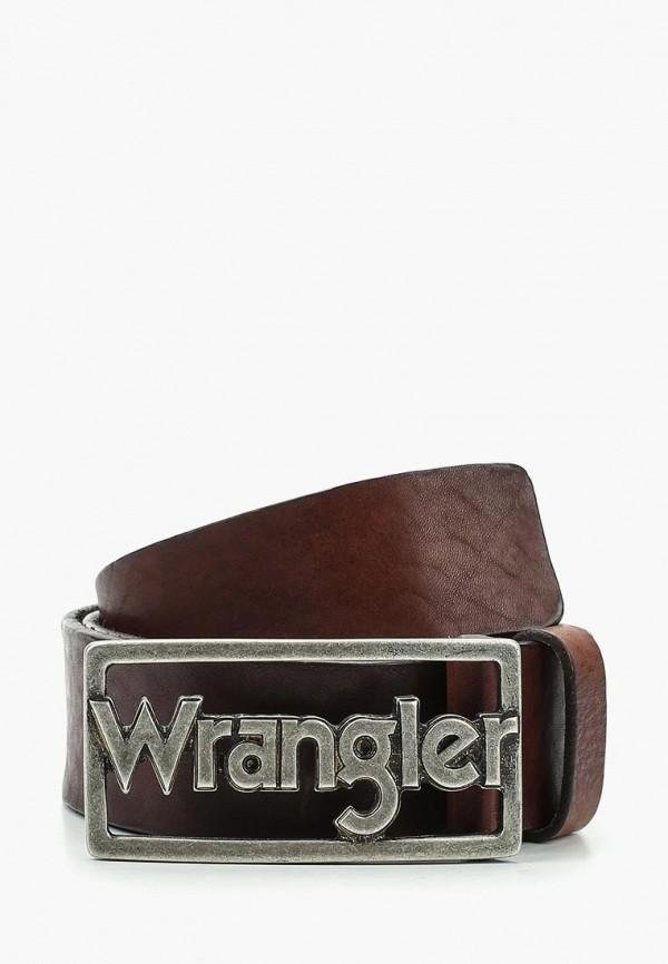 мужской ремень wrangler, коричневый