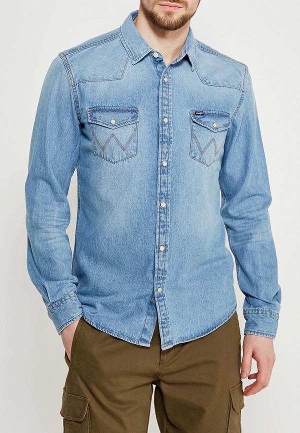 Рубашка джинсовая Wrangler Wrangler WR224EMAPFG2 рубашка джинсовая wrangler wrangler wr224emvhf27