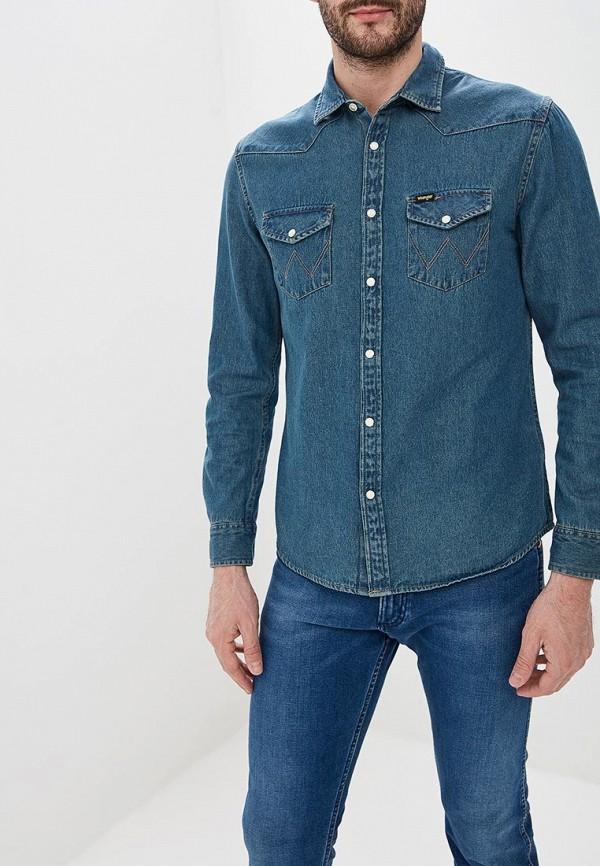 Рубашка джинсовая Wrangler Wrangler WR224EMDGGC8 недорго, оригинальная цена