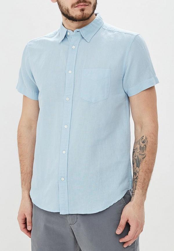 мужская рубашка с коротким рукавом wrangler, голубая