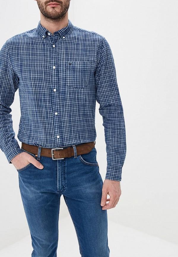 мужская рубашка с длинным рукавом wrangler, синяя