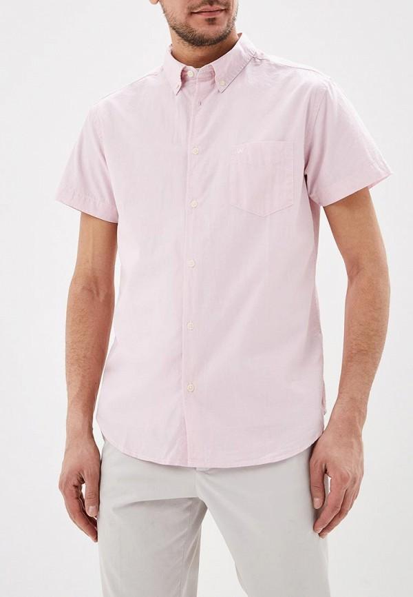 мужская рубашка с коротким рукавом wrangler, розовая