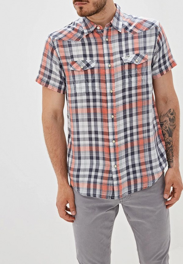 мужская рубашка wrangler, синяя