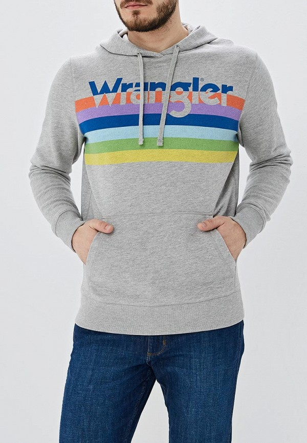 мужские худи wrangler, серые