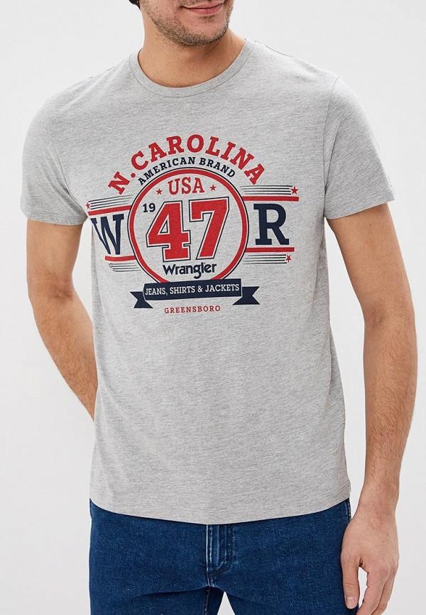 Футболка Wrangler Wrangler WR224EMDGGH5 футболка wrangler w7b52gnuy