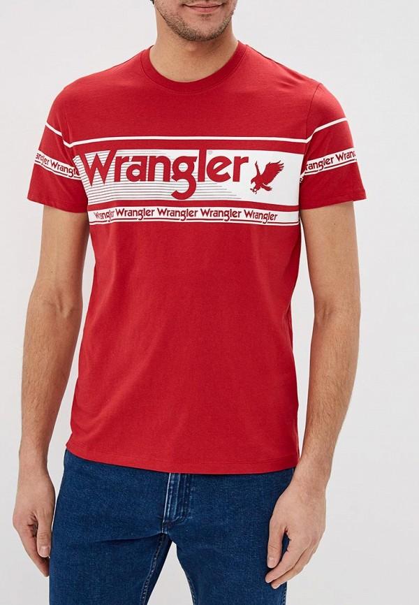 лучшая цена Футболка Wrangler Wrangler WR224EMDQRP1