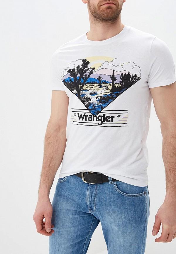 лучшая цена Футболка Wrangler Wrangler WR224EMDQRQ0