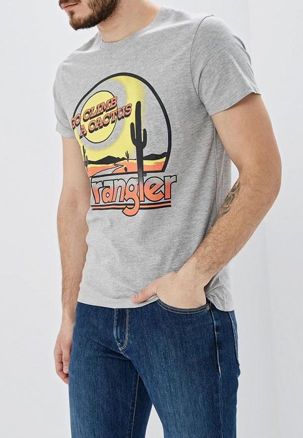 лучшая цена Футболка Wrangler Wrangler WR224EMDQRQ1