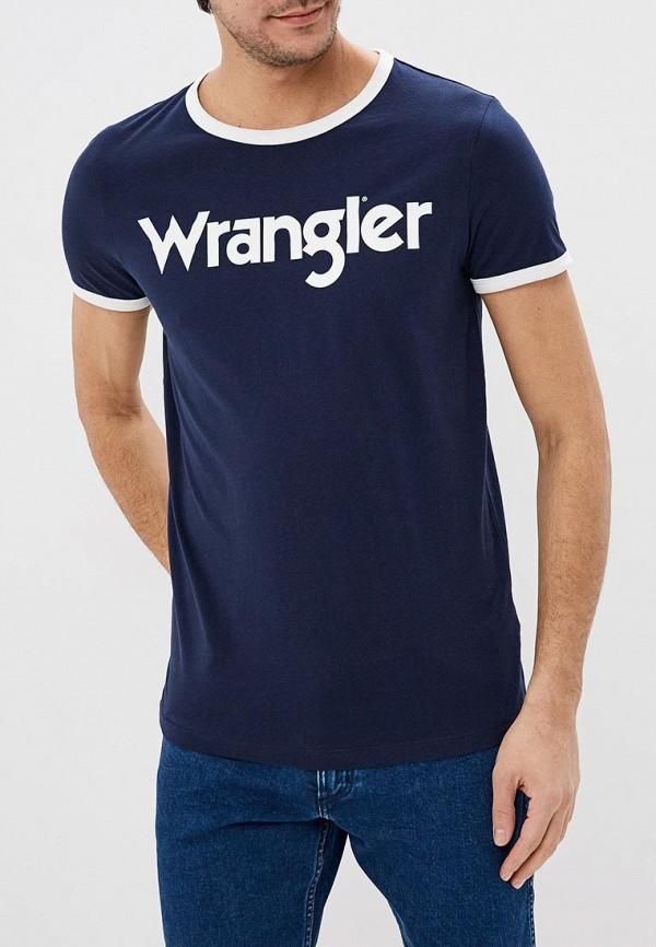 лучшая цена Футболка Wrangler Wrangler WR224EMDQRQ8