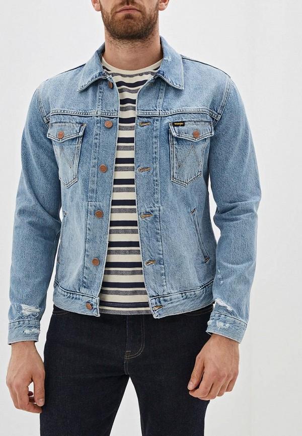 Куртка джинсовая Wrangler Wrangler WR224EMFQCM6 куртка джинсовая wrangler wrangler wr224emdggc5