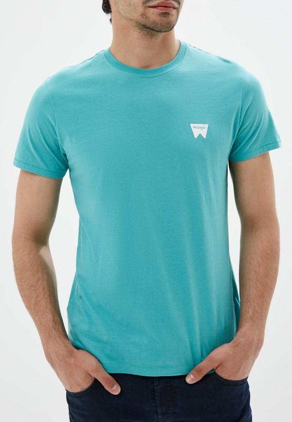 мужская футболка wrangler, бирюзовая