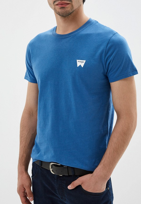 мужская футболка wrangler, синяя