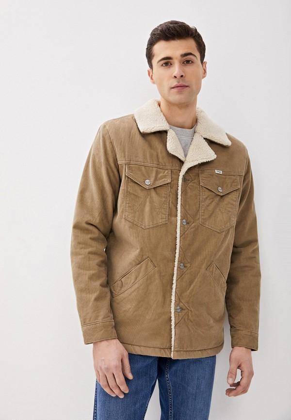 мужская утепленные куртка wrangler, бежевая
