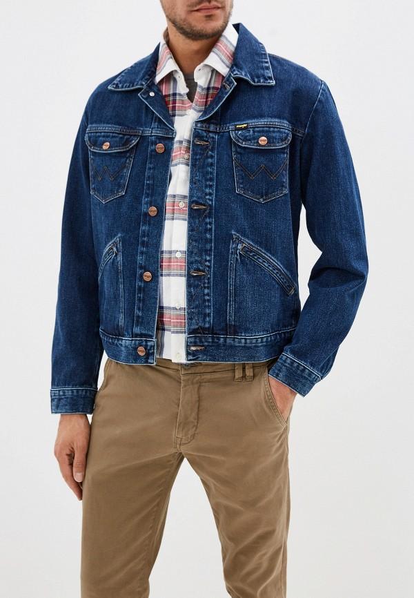 Куртка джинсовая Wrangler Wrangler WR224EMFQCT5 куртка джинсовая wrangler wrangler wr224emdggc5