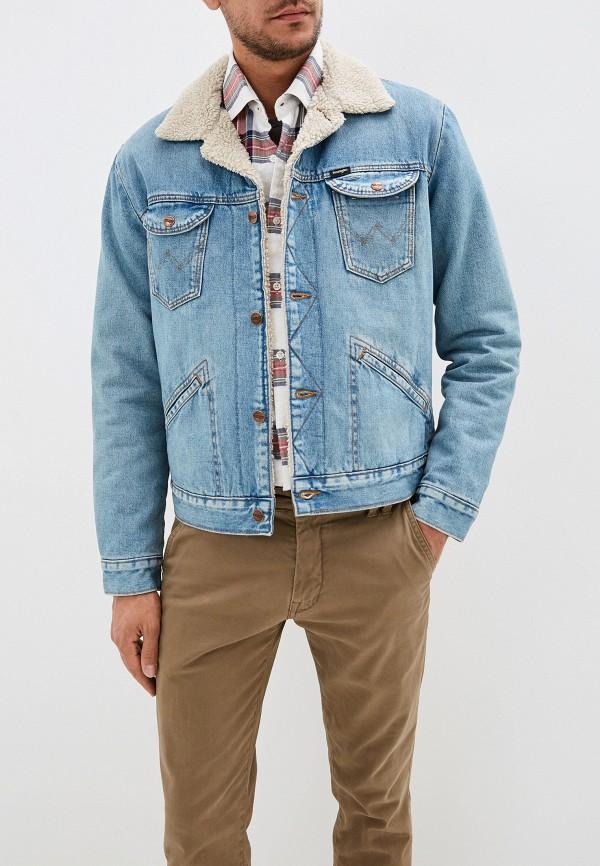 Куртка джинсовая Wrangler Wrangler WR224EMFQCT8 куртка джинсовая wrangler wrangler wr224emdggc5