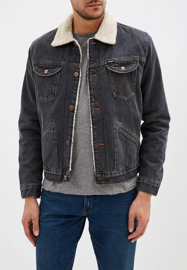 мужская джинсовые куртка wrangler, серая