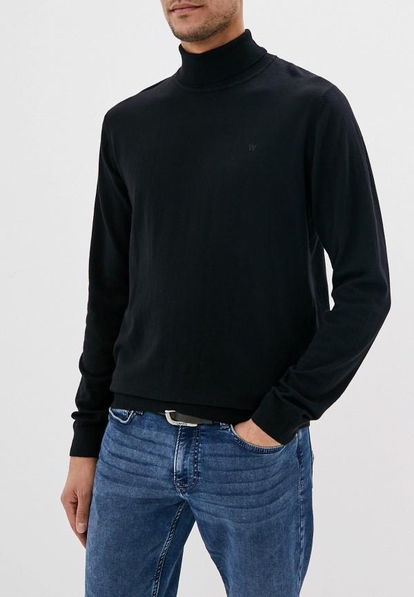 мужская водолазка wrangler, черная