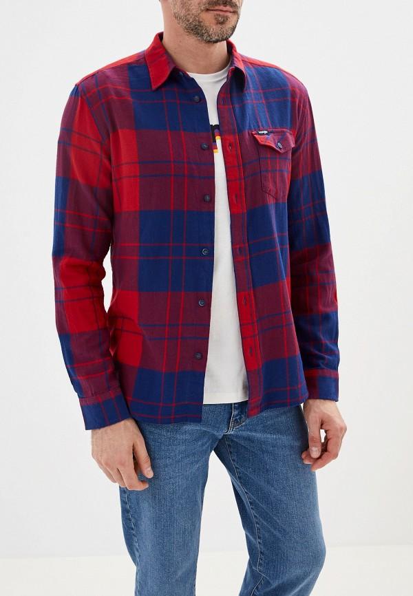 мужская рубашка wrangler, красная