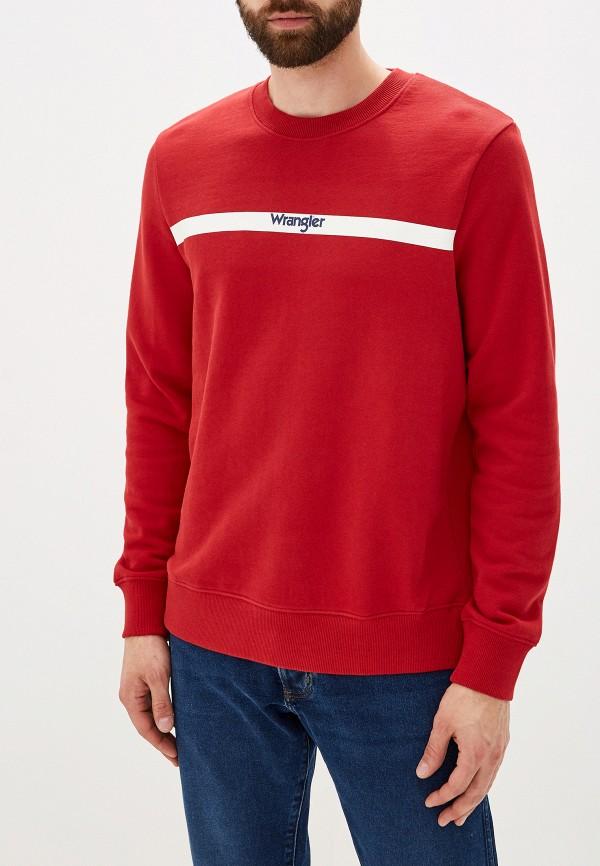 мужской свитшот wrangler, красный