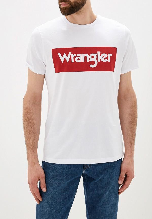 лучшая цена Футболка Wrangler Wrangler WR224EMFQDI0