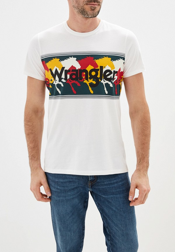 лучшая цена Футболка Wrangler Wrangler WR224EMFQDJ3