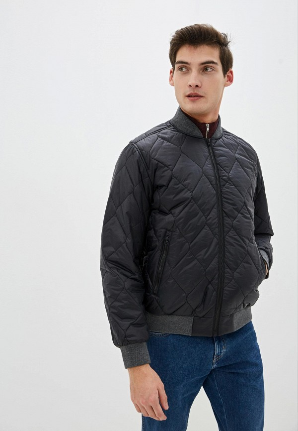 мужская куртка бомбер wrangler, черная