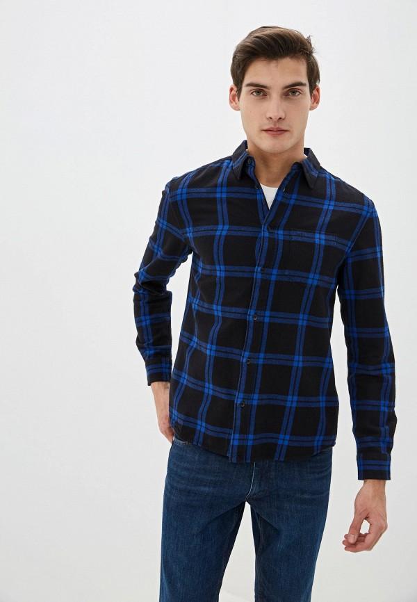 мужская рубашка с длинным рукавом wrangler, черная