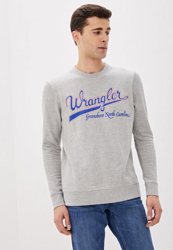 мужской свитшот wrangler, серый
